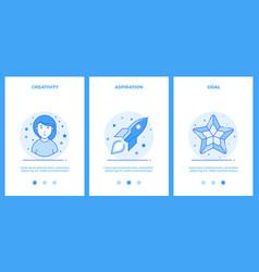 creative woman desire for a dream goal outline vector image
