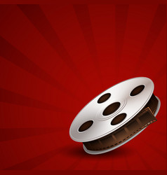 film tape on red background vector image