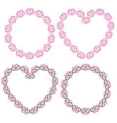 Interlocking heart frames clipart vector