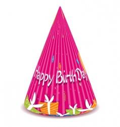 birthday cap vector image vector image