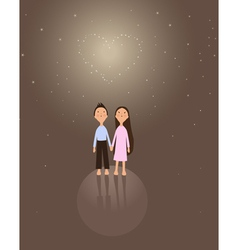 cute boy and girl vector image vector image