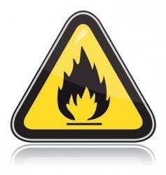 yellow triangular warning sign vector image vector image