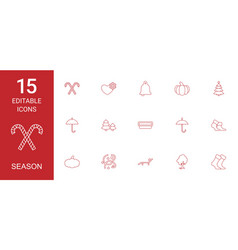 15 season icons vector image