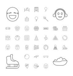 37 fun icons vector