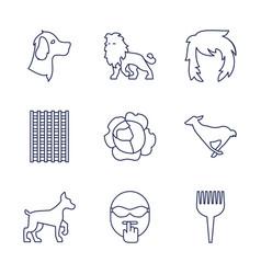 9 head icons vector