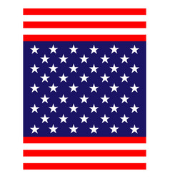 Abstract american flag banner background vector