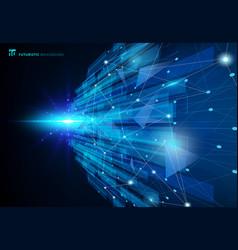 Abstract molecules blue virtual technology vector