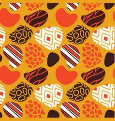 african art seamless tribal pattern vector image