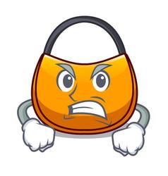 Angry hobo bag outline on image cartoon vector