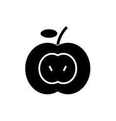 apple icon black sign on vector image