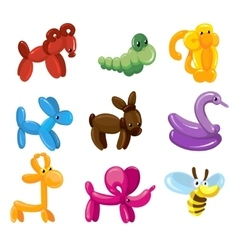 Balloon animals toys decoration for kids vector