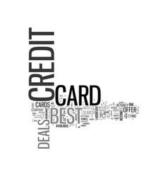 Best credit card deals text word cloud concept vector
