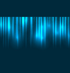 binary matrix falling random digits on dark blue vector image