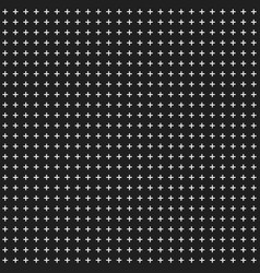 black abstract background with crosses seamless vector image