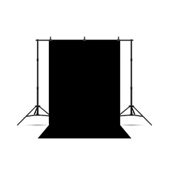 Black photo background isolated on white vector