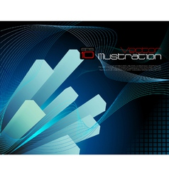 Blue abtract technology background vector