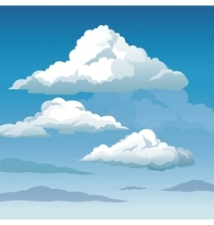 blue sky clouds seamless background vector image
