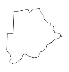 botswana map of black contour curves of vector image