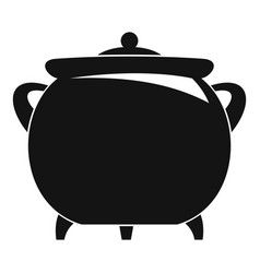 cauldron icon simple style vector image