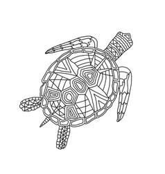 Children coloring antistress tortoise vector