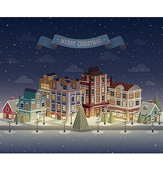 Christmas night city vector
