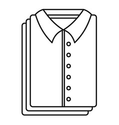 Clean shirts icon outline style vector