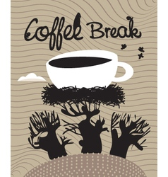 Coffee spring vector