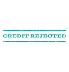 Credit Rejected Watermark Stamp vector