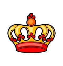 Crown retro tattoo symbol Cartoon old school vector
