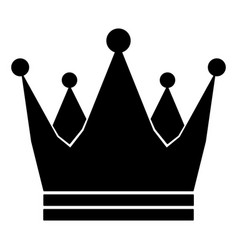Crown royal imperial icon schematic from black vector