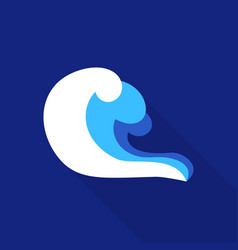 curl wave icon flat style vector image