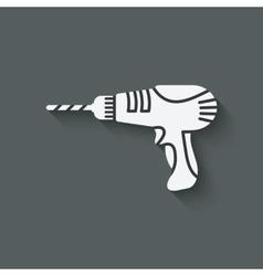Drill screwdriver symbol vector
