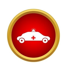 Emergency ambulance icon simple style vector