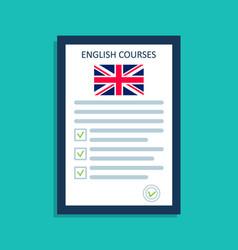 english language icon logo for course vector image