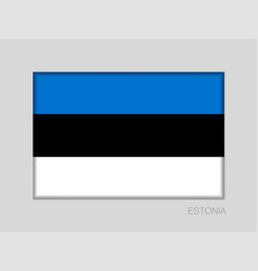 Flag of estonia national ensign aspect ratio 2 to vector