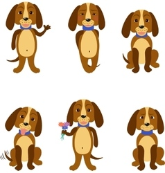 Funny dogs set vector image