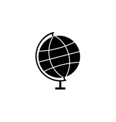 globe solid icon school and education element vector image