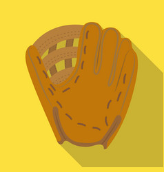 glove trap baseball single icon in flat style vector image