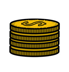 Gold coins money save vector