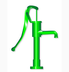 green hand water pump vector image
