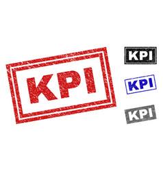 Grunge kpi textured rectangle stamps vector