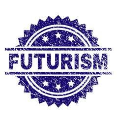 Grunge textured futurism stamp seal vector