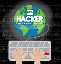 Hacker EPS10 vector image