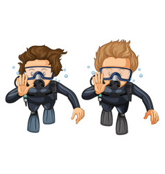 Hand gesture for scuba diving vector