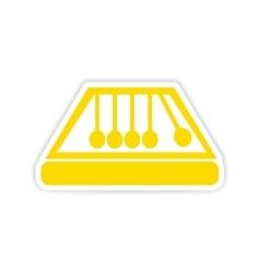 icon sticker realistic design on paper symbol vector image