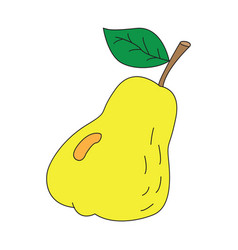icon with ripe pear vector image