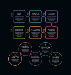 Infographics design template for graph vector