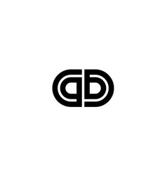initial g and b logo design concept vector image