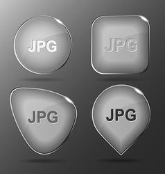 Jpg Glass buttons vector