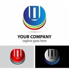 Letter D logo icon vector